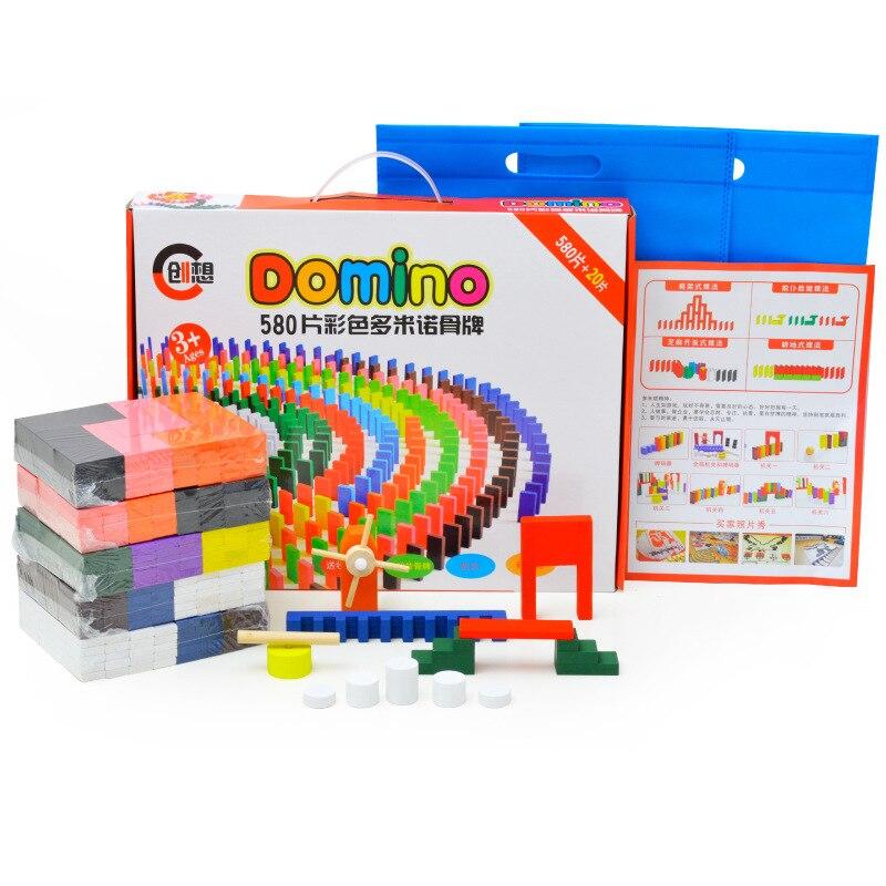 360/600 шт Цвет деревянное домино учреждения аксессуары блоки головоломка взрослых игр домино Монтессори Деревянные игрушки для детей - Цвет: 600pcs