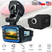 AKASO cámara DVR para coche, Full HD, 720P, 2 en 1, Detector de Radar DVR para coche, grabadora de vídeo, cámara de salpicadero, velocidad láser, con sensor G, DVRs
