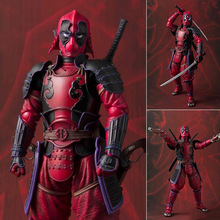 Deadpool Action Figures Sic Samurai Taisho 170mm Realization Anime Deadpool Iron Man Figurine Toys Gift militech sic