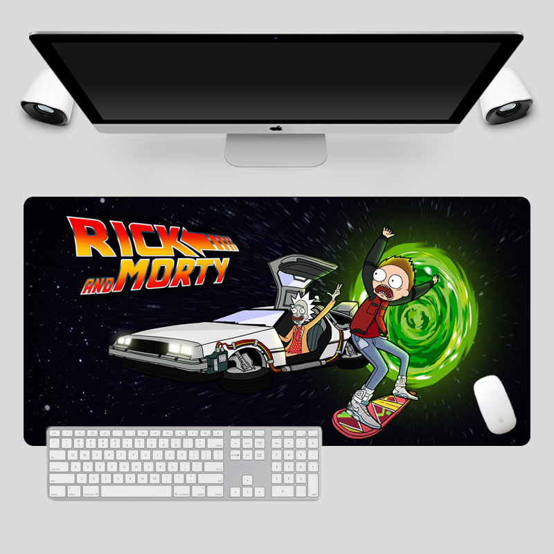 SIANCS Super Cool Rick And Morty Mouse Pad Hot Anime Gaming Mousepad Computer Keyboard Pad Rubber Locking Edge Laptop Desk Mats