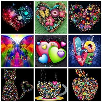Broderie Diamant Design Amour