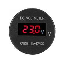 Вольтметр светодиодный DC 8-60 в органический светодиодный дисплей мини автомобильный морской вольтметр измеритель приборной панели для лодки яхты вольтметр Авто