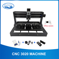 CNC 3020 Laser Engraver Wood CNC Router Machine GRBL ER11 Hobby DIY Engraving Machine for Wood PCB PVC with Offline Control