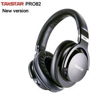 מקורי Takstar PRO82/פרו 82 מקצועי צג אוזניות HIFI אוזניות עבור סטריאו, מחשב הקלטת K שיר משחק, בס מתכוונן