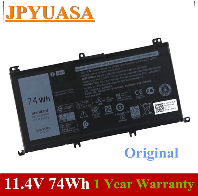 7XINbox 11.1V 74Wh Original 357F9 Laptop Battery For Dell  Inspiron 15 7559 7000 INS15PD-1548B INS15PD-1748B INS15PD-1848B