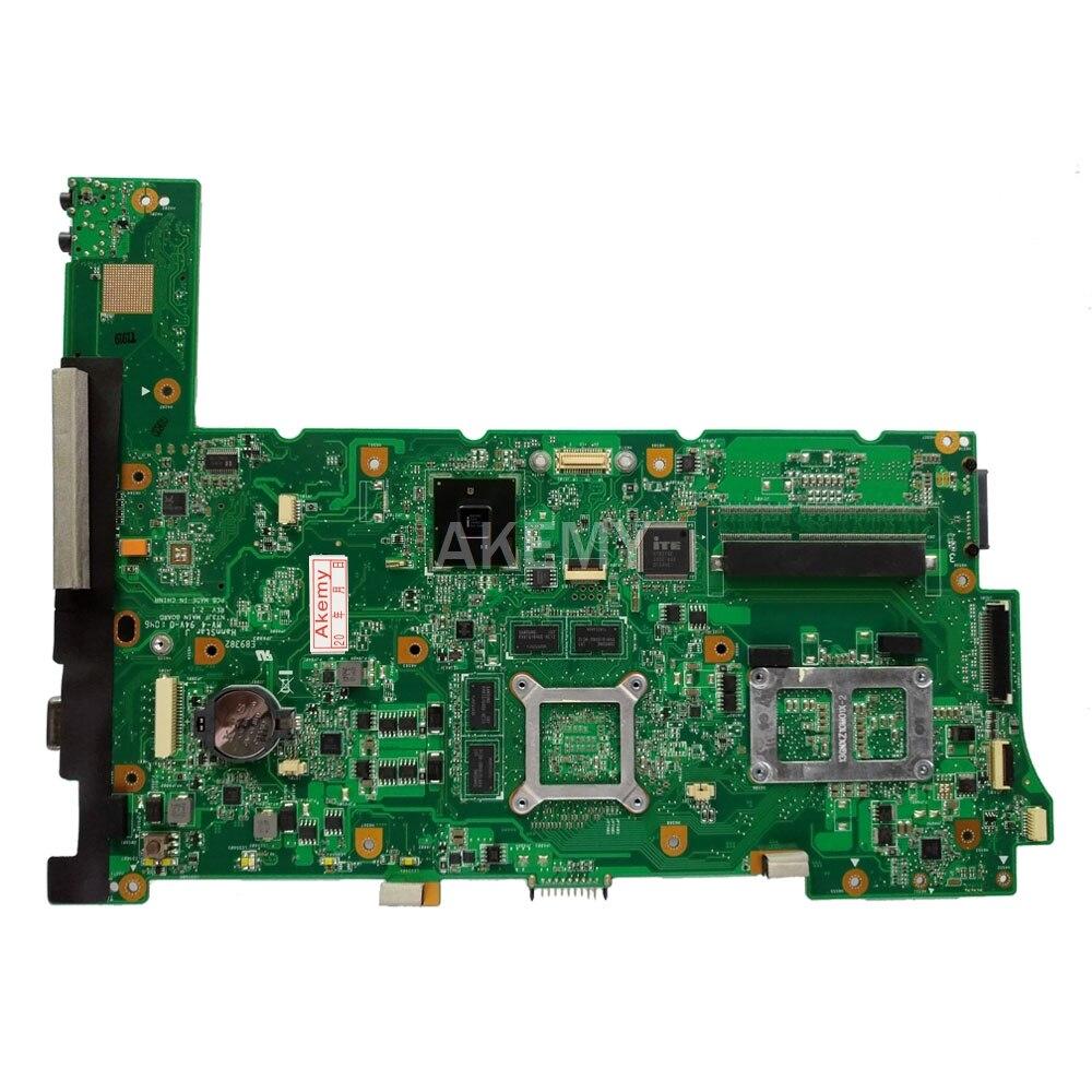 Купить с кэшбэком For ASUS N73S N73SV N73SM Laptop motherboard 1GB graphics card   Free i5 2.4 GHz CPU