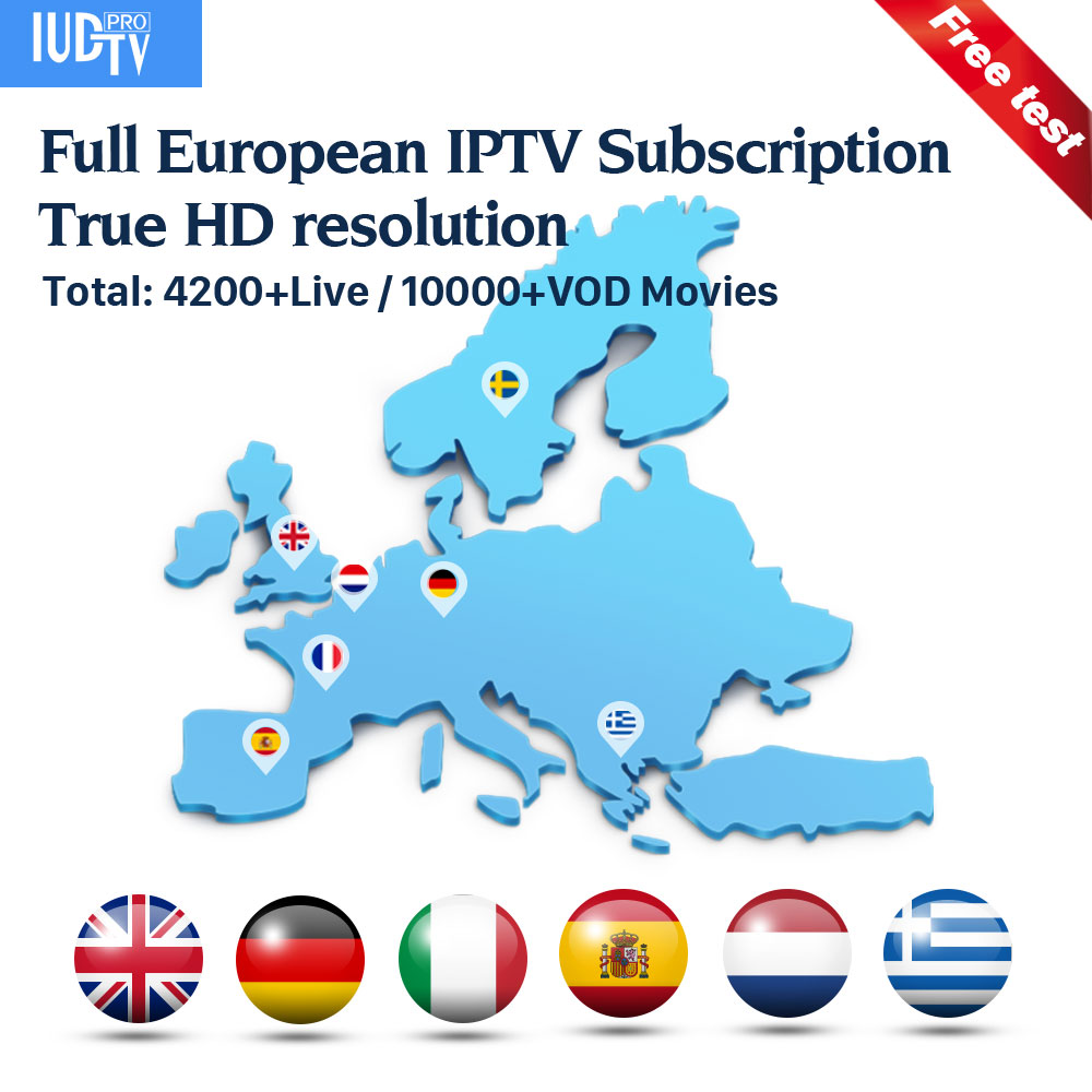 Inde IP TV royaume-uni italie espagne suède IPTV M3U Code IUDTV 1 an abonnement France allemagne indien grec arabe Portugal turquie IPTV
