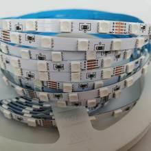 Tira nova do rgb do diodo emissor de luz de dc24v smd 4040, ultral magro 5mm fpbc 72led/m,17 w/m, fita conduzida brilhante super de 360 grânulos, luz de tira colorida