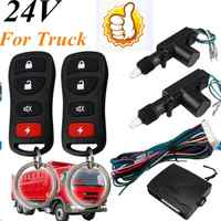 24V Central Door Lock Locking System Universal Auto Remote Control Vehicle Keyless Entry System For Truck 2 Doors