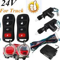 24V Centrale Deurvergrendeling Vergrendeling Systeem Universele Auto Afstandsbediening Voertuig Keyless Entry Systeem Voor Truck 2 Deuren