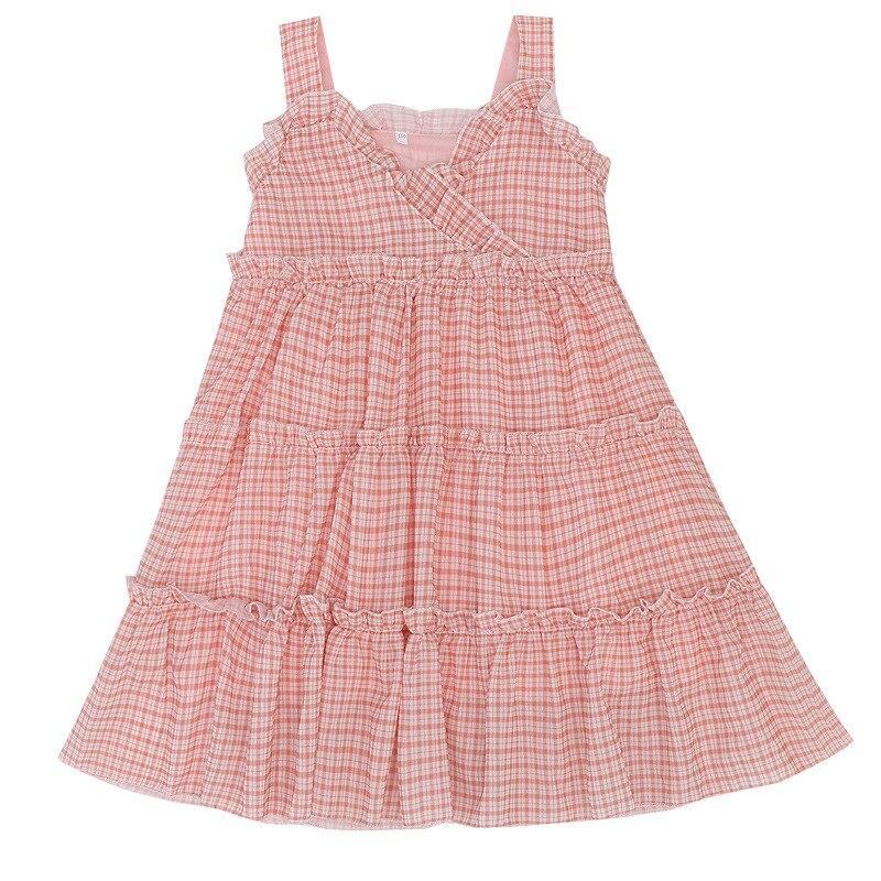 Girl's Dress New Summer vest Dress Fashion Kids  Dungaree  Chiffon Girls clothes Fashion 2020 4-12 Ages