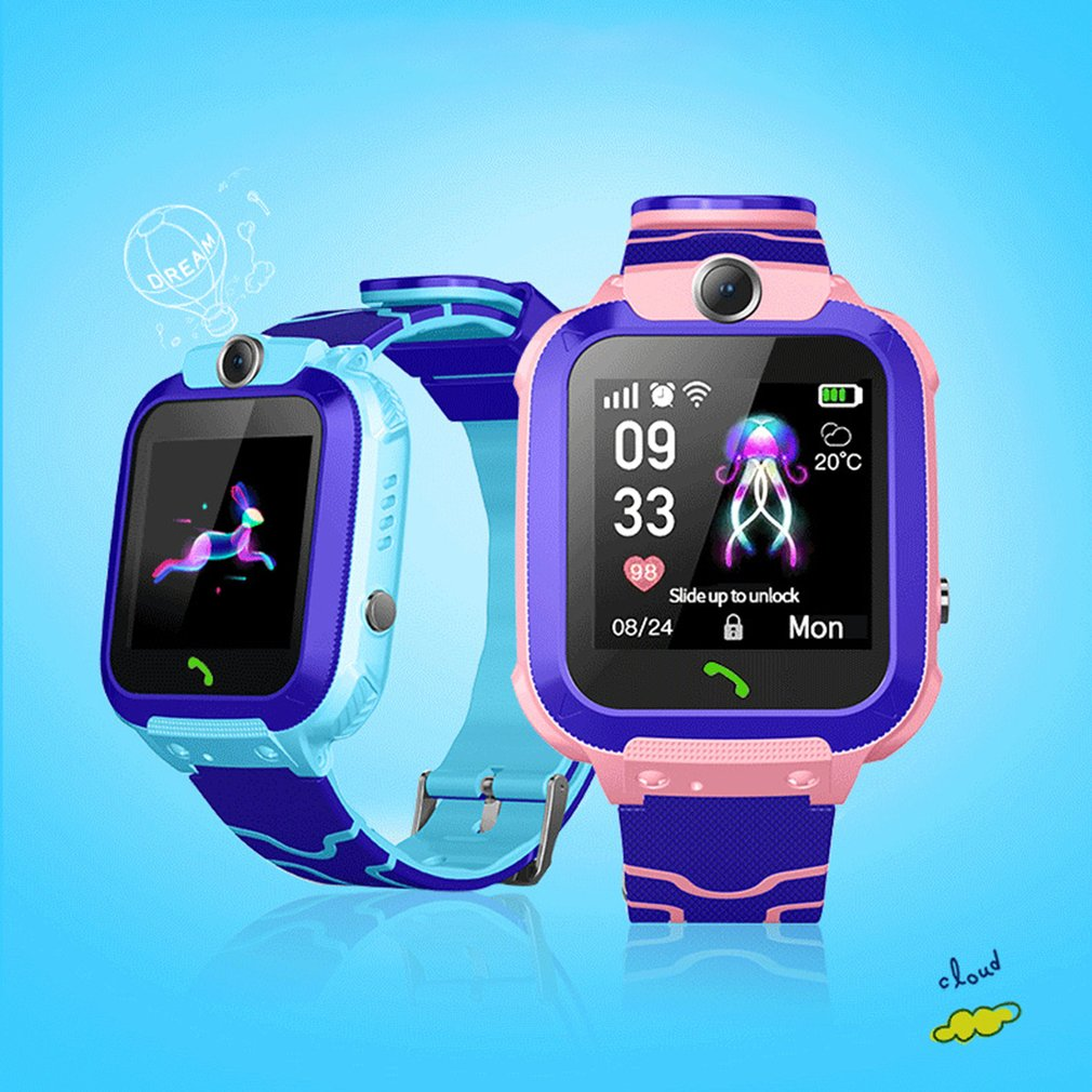Q12 Waterproof  Smart Watch for Kids LBS Tracker Child SOS Call Anti Lost Baby Watch Children Phone Watches for Boy girls