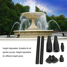 8PCS/Set Multi-Function Nozzles Fountain Pump Waterfall Head Set Garden Landscaping Fish Tank Submersible Pump