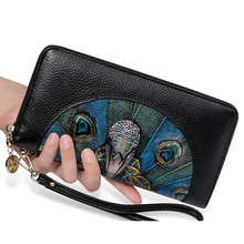 Genuine Leather Womens Wallet and Phone Holder Slim Thin Long Wallet Z