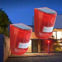 Alarm zewnętrzny syreny energii słonecznej czujnik ruchu na podczerwień syreny z błysk światła wodoodporna bezpieczeństwa ochrony domu ogród Yard