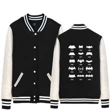 Batman Evolution Joker Ha Ha Ha Some People Just Need A Pat On The Back Man Boy Baseball jacket Full Zip Coat Fleece ZIIART