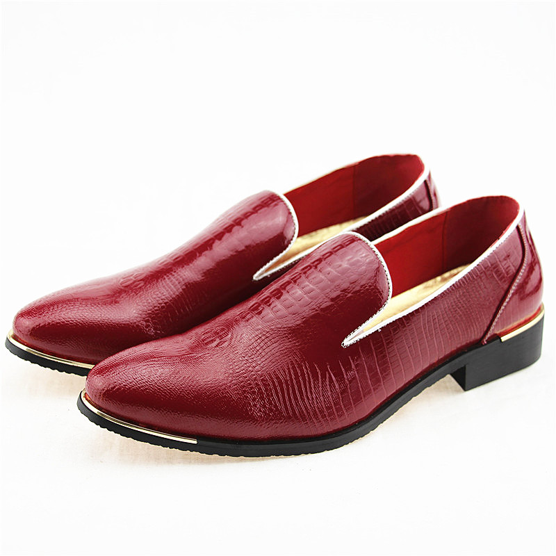 Image 2 - New 2019 Autumn Men's Leather Loafers Casual Shoes Fashion Mens Snakeskin Pattern Driving Shoes Breathable Man Flats Moccasins-in Men's Casual Shoes from Shoes
