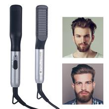 Get more info on the Men Beard Straightening Comb Hair Straightening Brush Multi-function Hair Styling Combs