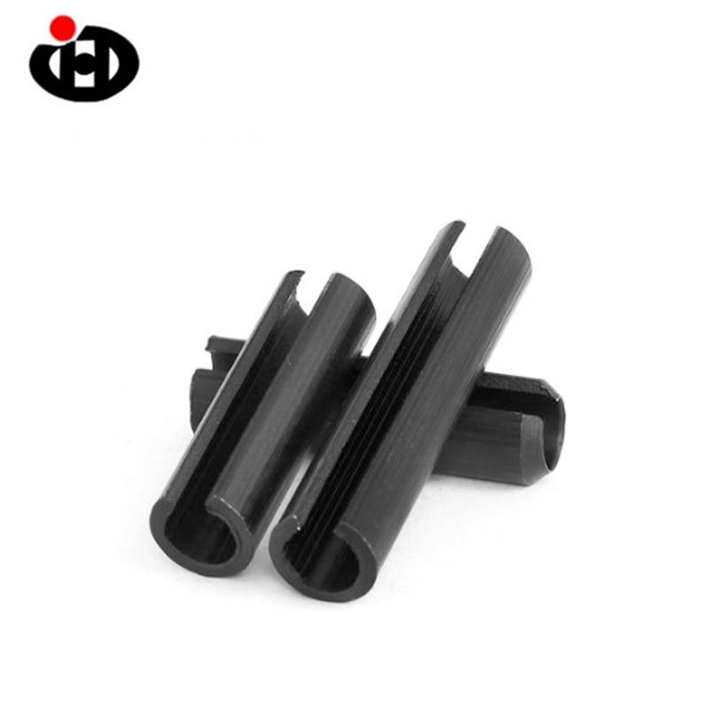 JINGHONG Black  100PCS 65MN DIN1481,GB879,ISO8752 Slotted Spring Pins M5*6-50