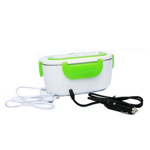 Electric Lunch Box with Spoon Portable Electric Heating Food Heater Rice Container for Office Car Lunch Box Dropshipping