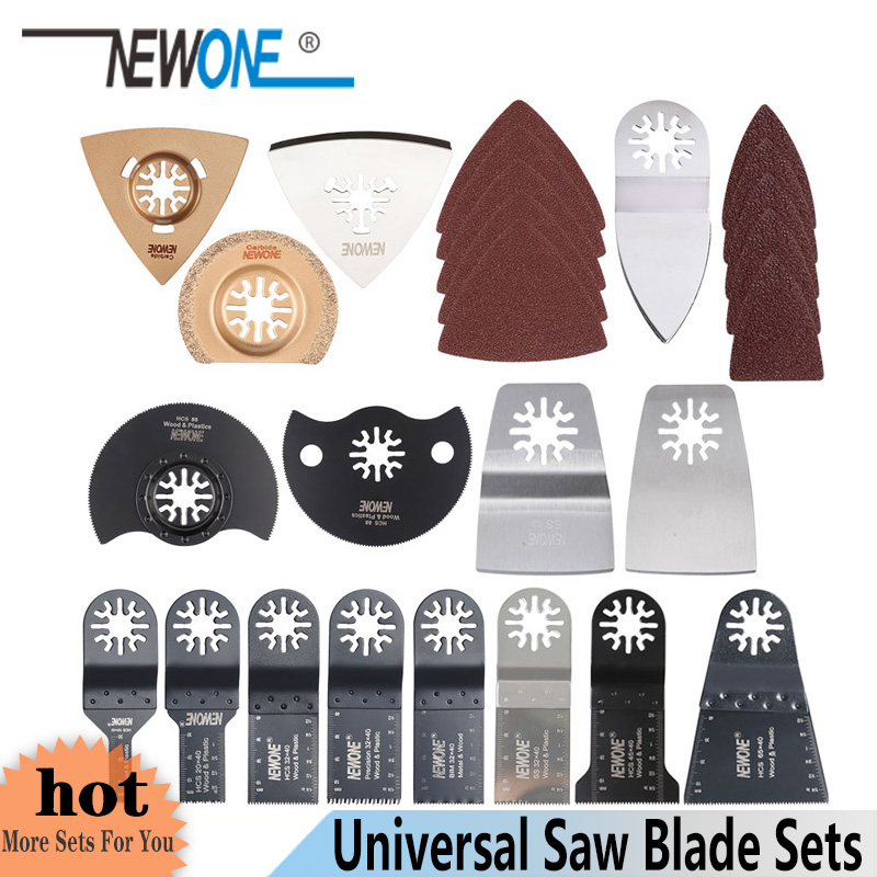 NEWONE C66/C100 HCS/Japan-tooth/bi-metal oscilante herramienta multifunción hojas de sierra para madera/metal/plástico/corte de cola