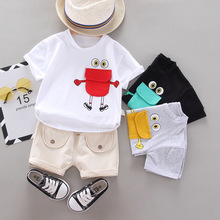 Summer Clothes For Baby Boy Cotton Cartoon T-shirt Tops +Shorts 2pcs Baby Outfit Toddler Tracksuit Kids Clothing Set Baby Suit cotton 2pcs newborn clothes cute cartoon baby boy clothes tops pants outfit suits baby tracksuit set t08