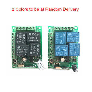 Image 4 - 433MHz Universal Wireless Remote Control Switch DC 12V 4CH Relay Receiver Module RF 4 Button Remote Control Garage door Opener