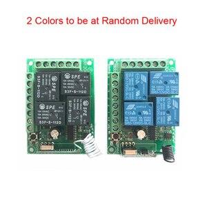Image 4 - 433mhz universal sem fio interruptor de controle remoto dc 12v 4ch relé módulo receptor rf 4 botão controle remoto abridor da porta garagem