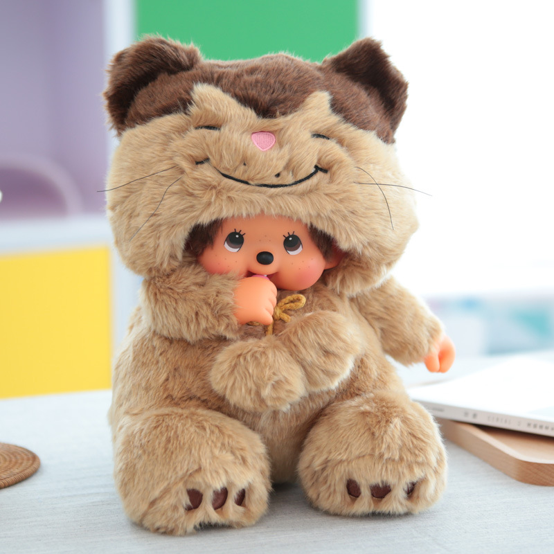 Monchichi 45 Cm Animal Turning-Lucky Cat Hot Sales Anime Doll Physical Store Hot Sales Scissors Doll