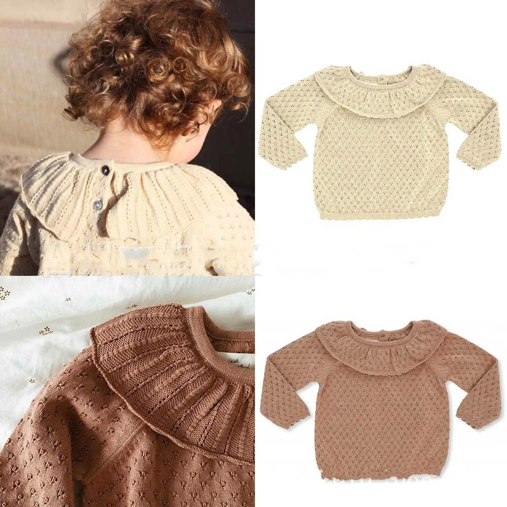 In Stock Ins2020 Autumn and Winter Konges Girls Soft Knitted Sweater