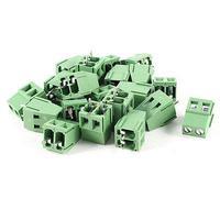 20 Pcs 2P 5mm Espaçamento PCB Mount Conector do Bloco Terminal de Parafuso 300V 10A AWG24 12|Conectores| |  -