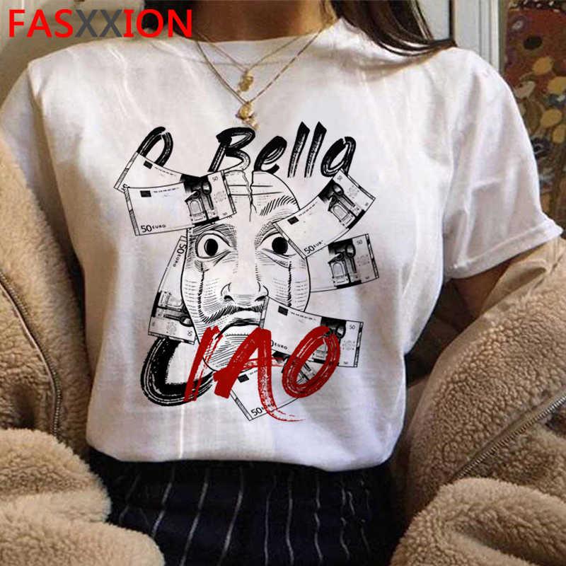Après le hack Tshirt femmes/Hommes De La Casa De Papel Harajuku T-shirt Maison De Papier Graphique Tshirt Bella Ciao Hip Hop Top T-Shirts Mâle