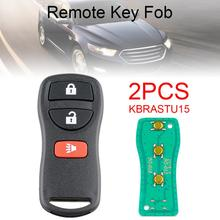 цена на 2pcs 315Mhz 3 Buttons Portable Durable Remote Key Fob Keyless Entry Remote Control Key KBRASTU15 / CWTWB1U733 Fit for Nissan
