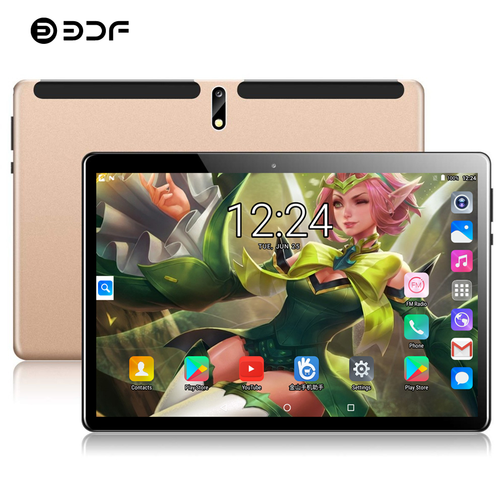 BDF 2020 Global Version 10 Inch Tablet Pc 2GB/32GB Quad Core 1280*800 IPS Dual SIM Card 3G Call FDD WiFi Android 7.0 Tablet 10.1
