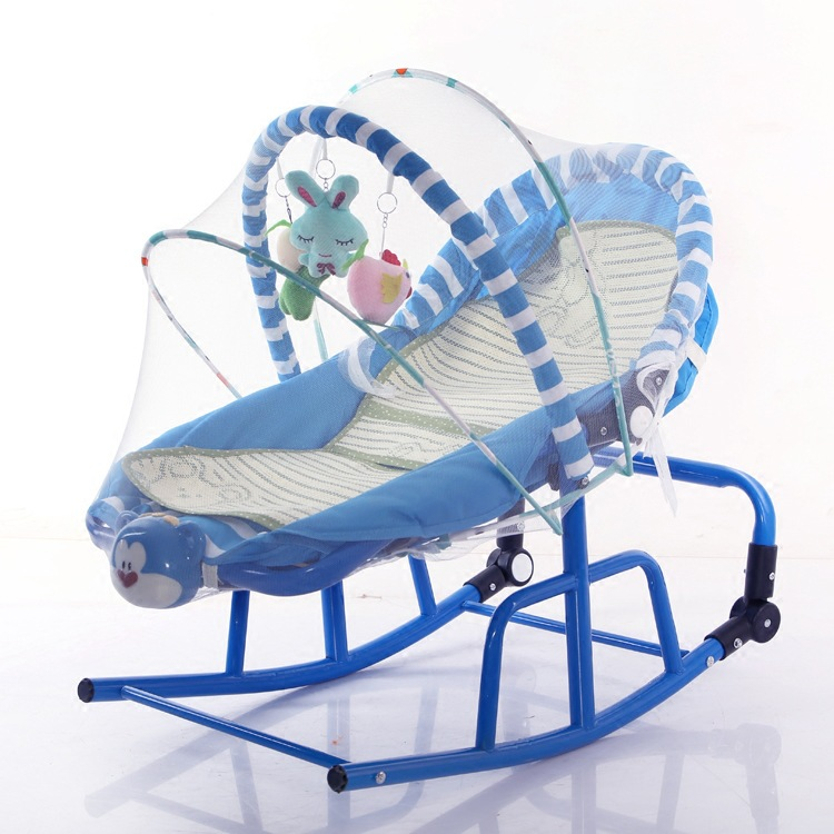 Maternal And Child Supplies Infant Cradle Rocking Chair Recliner Rocking Chair Light Music Vibration Pacify Baby Coax Bao Shen M