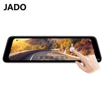 цена на JADO Car Camera Video Recorder 10 Inch Car Dash Camera IPS Screen 24Hour Parking Monitoring Dvr Cam Auto Video recorder 1296P HD