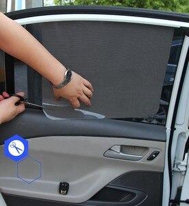 Image 2 - 2 шт ., автомобильные солнцезащитные очки , сетка, Электростатическая наклейка , боковое окно, солнцезащитный козырек, автомобильная интерьерная занавеска , УФ защита, внешние аксессуары