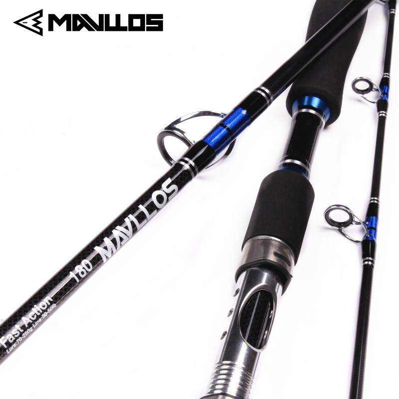 Mavllos Japan Guide Lure Weight 70 250g Sea Boat Jigging Fishing Rod 2.1M 3 Sections Carbon Fiber Saltwater Spinning Fishing Rod
