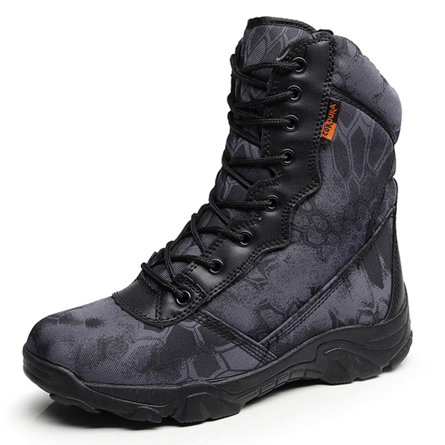 Men Military Tactical Boots Autumn Winter Waterproof Leather Army Boots Desert Safty Work Shoes Combat Ankle Boots 2