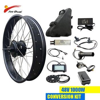 Kit de conversión de bicicleta eléctrica de 48V y 1000W, batería de...