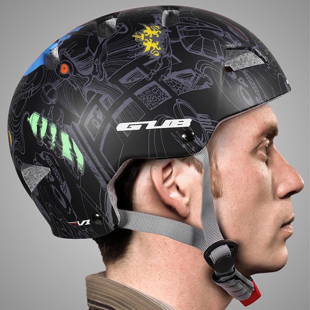 Ultralight Skating Helmet Cycling Skateboard Headgear Safety Hat Removable Liner