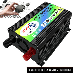 Image 3 - Güneş invertör 3000W tepe gerilim trafosu dönüştürücü DC 12V AC 220V araç invertörü güneş invertör ev aletleri
