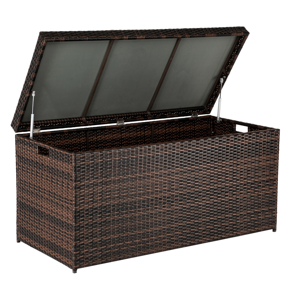 【US Warehouse】Simple And Practical Outdoor Deck Box Storage Box Brown Gradient