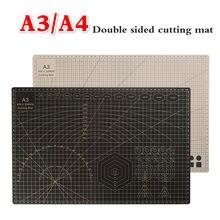 A3/A4 двухсторонний коврик для резки черная разделочная доска Лоскутная разделочная площадка инструменты для лоскутного шитья инструмент дл...
