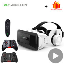 Shinecon G06EB Helmet 3D VR Glasses Virtual Reality Headset Lens For iPhone Android Smartphone Smart Phone Goggles Gaming 3 D(China)