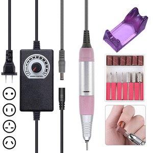 Image 1 - PRO 35000 tr/min Kit de perceuse à ongles électrique manucure perceuse stylo pédicure forte perceuse à ongles lime Nail Art outils ensemble