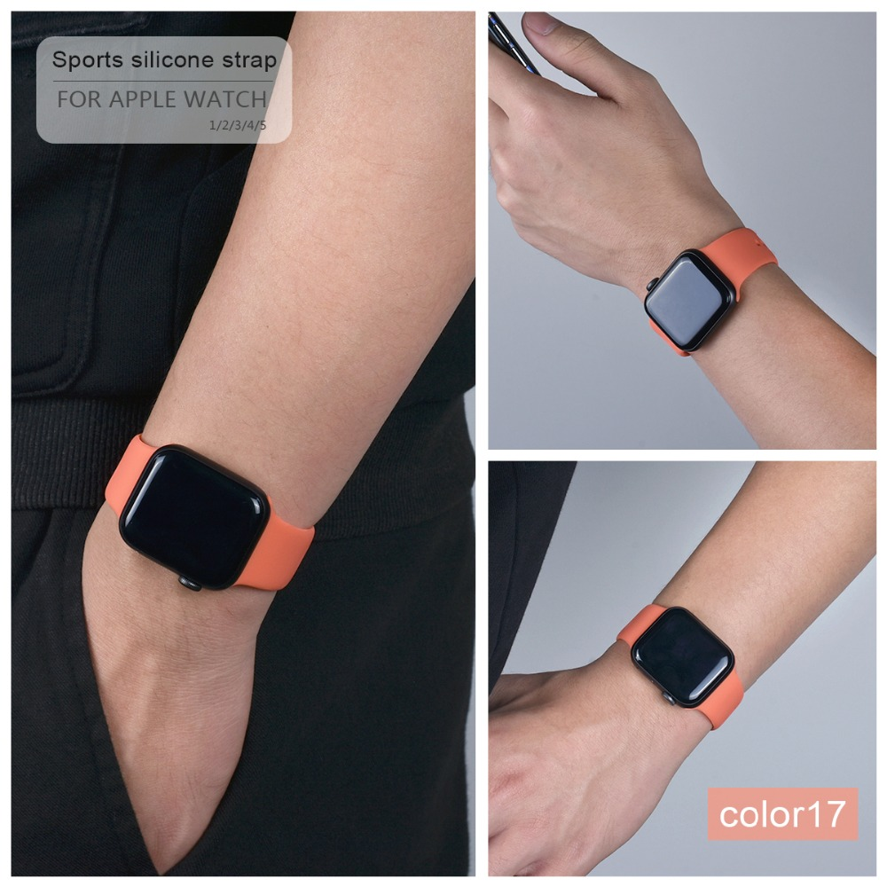 Soft Silicone Band for Apple Watch 109