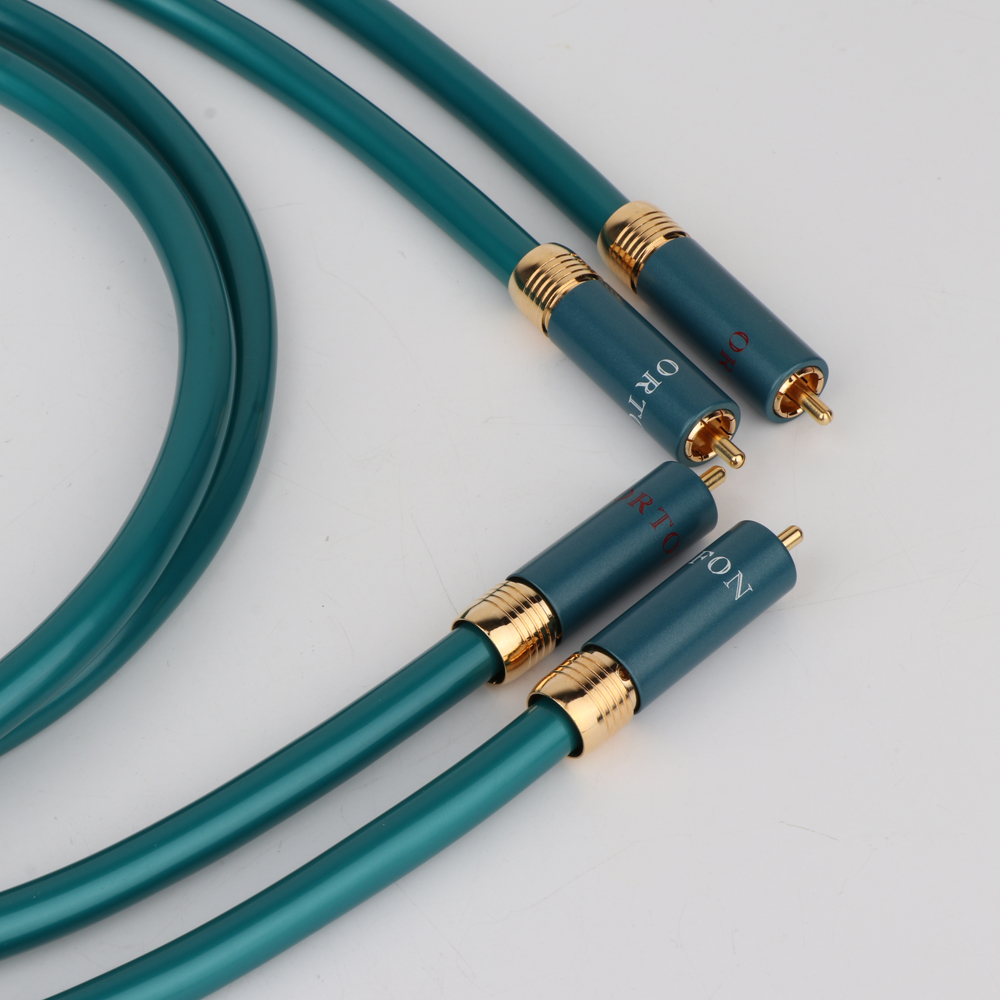Hifi X406 Ortofon RCA Cable Hi-end CD Amplifier Interconnect 2RCA to 2RCA Male Audio Cable