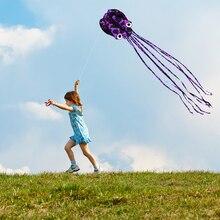 80 см x 400 см/2,6x13 футов Бескаркасный Осьминог парашют трюк воздушный змей одна линия мягкий параплан воздушный змей открытый пляж развлечения спорт