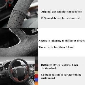 Image 5 - Coprivolante per auto cucito a mano in vera pelle scamosciata nera antiscivolo per BMW E90 E91(Touring) 320d 325i 335i X1 E84